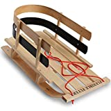 Flexible Flyer BCL-40 Premium Baby Sleigh. Toddler Boggan. Wooden Pull Sled for Kids,Red , 29 x 14 x 11.5 inches