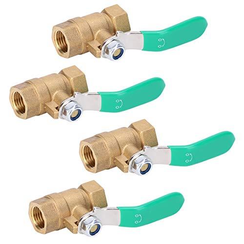 Válvula de latón con interruptor de válvula de agua, válvula de bola de latón para sistema de tubería de agua fría para sistema de tubería de agua caliente