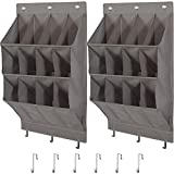 STORAGE MANIAC Over The Door Shoe Organizer, 2-Pack Hanging Shoe Organizer, 12-Pocket Wall Shoe Organizer,...