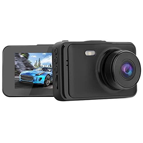 Tree-es-Life Dash CAM 1080p Grabadora de conducción de automóviles Pantalla LCD de 3 Pulgadas 140 ° Gran Angular Aparcamiento Detección de Movimiento Tacógrafo Negro 3 Pulgadas
