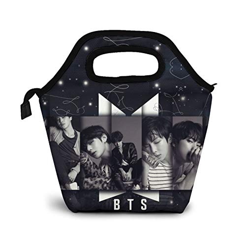 BTS Kpop Lunch Bags Reusable Insulated Tote Handbag Insulation And Freezable Travel Picnic For Women Men And Teens Girls