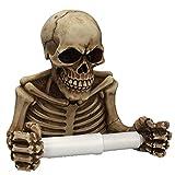 1 Pc Skeleton Toilet Paper Roll Wall-Mounted Retro Skeleton Paper Towel Holder Skull Roll...