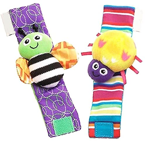 KTING Rattle Set Baby Sensory Educational Toys,Foot-finder Socks Wrist Rattles Bracelet