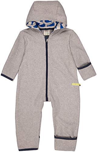 loud + proud Baby-Unisex Overall Fleece Aus Bio Baumwolle, GOTS Zertifiziert Schneeanzug, Grau (Grey Gr), 56 (Herstellergröße: 50/56)