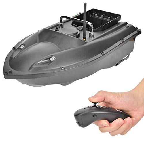 DYJD RC Pesca Bait Boat 500M Ruta de corrección automática Barco de Nido Multifuncional, sostenga 1.5 kg de señuelo para Necesidades para Hombres pescando,Negro