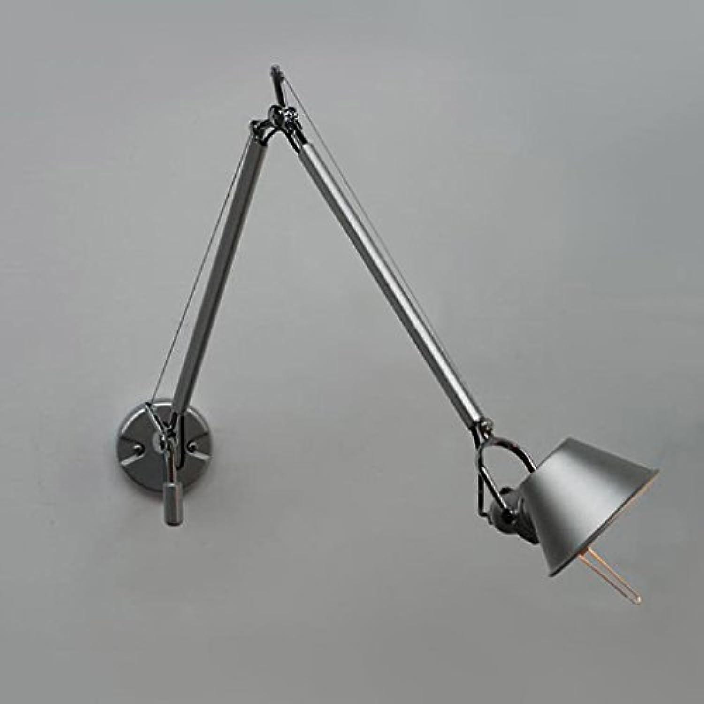 GZ-Kreatives Spiegellampe Nachttischstudie des einfachen modernen amerikanischen Landes lange Armwand lamp105  14.5CM E27