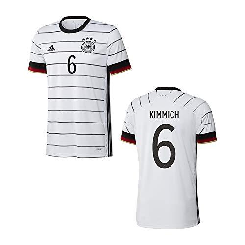 adidas DFB Deutschland Trikot Home EM 2020 Kinder inkl. Original Flock (Kimmich + 6, 152)