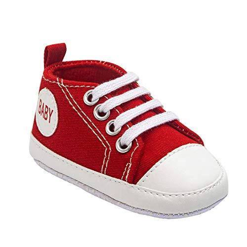 Janly Clearance Sale Zapatos de bebé, suela suave para bebé de 0 a 1 año de edad, zapatos de interior para bebés 9 colores disponibles, primeros zapatos para caminar para Navidad (rojo-12-18 meses)