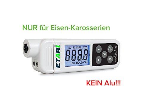 ET-110 Schichtdickenmessgerät NUR für Ferrum, Lackdickenmessgerät, Lacktester, Lackprüfgerät speziell für den Kfz-Kauf zur Lackdickenprüfung NUR auf Eisen