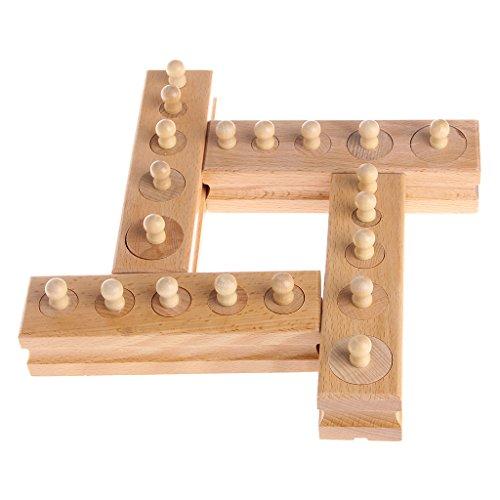 Lernspielzeug für Kinder, aus Holz, mit Zylinder-Stecknuss, für Frühentwicklung, Lehrspielzeug