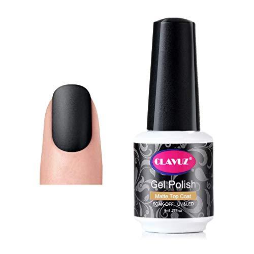 coat gels for nail arts CLAVUZ Matte Top Coat Gel Nail Polish Matte Finish Long Lasting Soak Off UV LED Nail Art DIY at Home 8ml