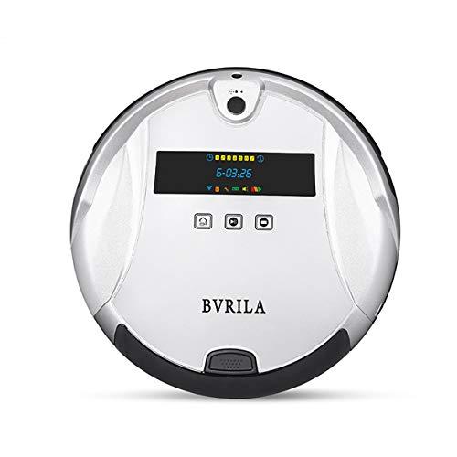 Robot Aspirador de Limpieza Bvrilla / Interconexión de teléfonos móviles /Barrido / Arrastre húmedo / Videovigilancia HD / Se Adapta a una Variedad de Pisos / Alfombras