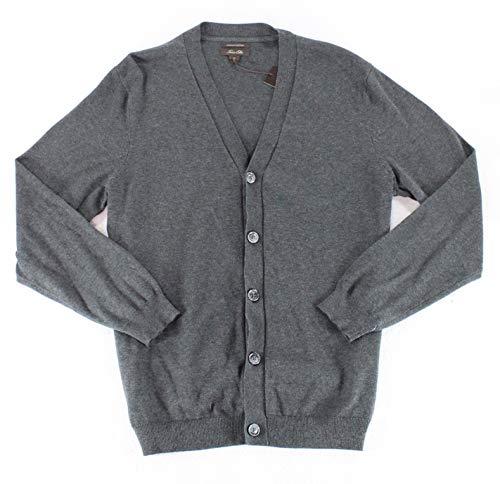 Tasso Elba Mens Small Button Down Cardigan Sweater Gray S