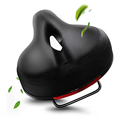EXPPAN Bike Seat, Comfortable Bike Seat Cushion with Soft Memory Foam and Airflow System for Women Men, Wide Bicycle Seat Waterproof Bike Saddle Replacement for Mountain Bikes, Road Bikes