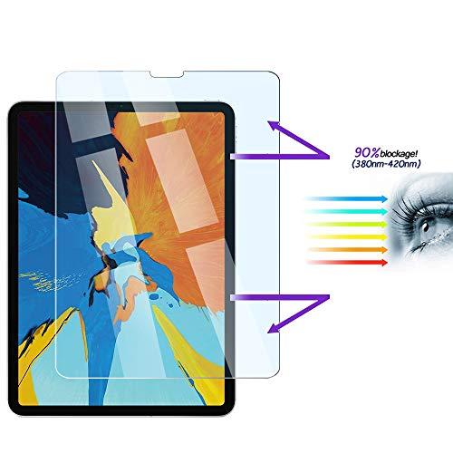 FiiMoo Anti Blue Light Scherm Beschermer Compatibel met iPad Pro 11 2018, [Verlicht oogvermoeidheid] [Blokkeert overmatig schadelijk blauw licht en UV] [9H Hardheid]