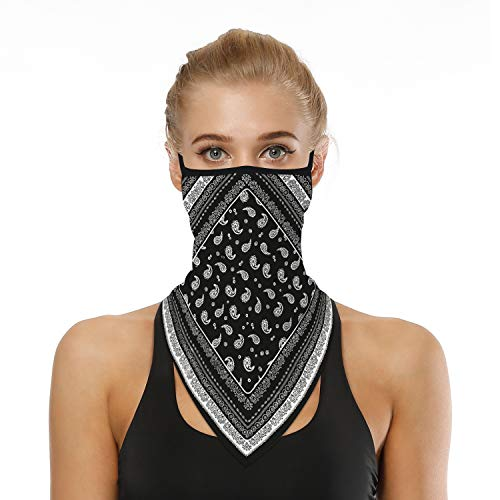 Cloth Face Mask Washable Resuble Over Ear Hangers Face Scarf Neck Earloops Mouth Cover for Dust Sun Protection (6)