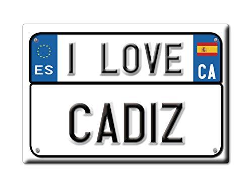 Enjoymagnets CÁDIZ Souvenir IMANES DE Nevera Reino Unido ANDALUCÍA IMAN Fridge Magnet Corazon I Love (VAR. Targa)