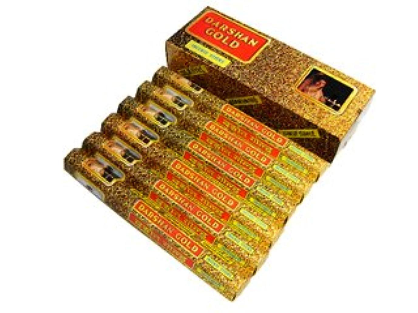 穴グラフィック支出DARSHAN(ダルシャン) ゴールド香 スティック DARSHAN(ダルシャン) 6箱セット