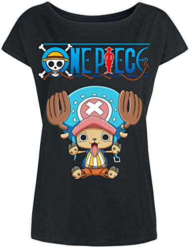 One Piece Chopper Maglia donna nero XXL