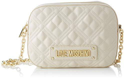 Love Moschino Jc4208pp0a, Bolsa de Mensajero para Mujer, Marfil (Ivory Quilted), 22x16x6 Centimeters (W x H x L)