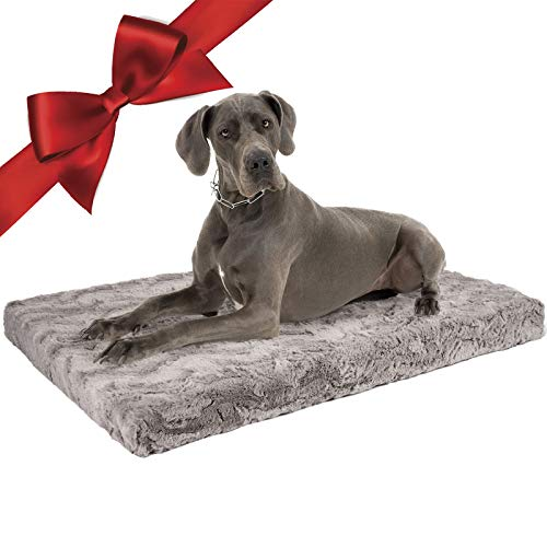 ULIGOTA Dog Bed Soft Crate Pad with Removable Cover Crate Bed for Large/Medium Dogs & Cats