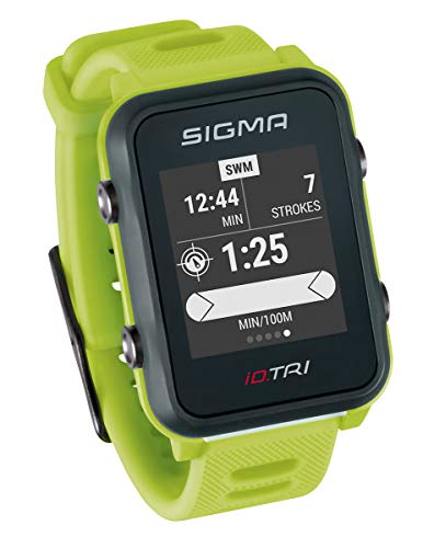 Sigma Sport ID.Tri Basic GPS Triathlon Watch, Unisex-Adult, Neon Green,