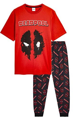 Marvel Pijama Hombre, Pijamas Hombre con Diseño Deadpool,