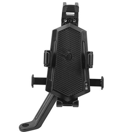 Fybida Soporte de navegación de bicicleta de succión magnética plegable para espejo retrovisor de bicicleta eléctrica (negro)