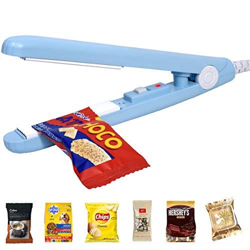 Mini Bag Sealer Handheld Chip Bag Heat Sealer, Evencaphy Food Sealer Snack Plastic Bag Sealer Bag Resealer Machine with 45'' Power Cable For Vacuum Sealer Bag Chip Bags Plastic Bags Snack Bags Sealer