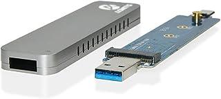 Adwits UASPからPCIeに対応するミニワイヤレスNVMe SSDケースUASPからPCIe NVMe M.2 2230/2242/2260/2280 高性能SSDアダプター、Samsung PM961/SM961 960EVO PRO,インテル, 東芝, Crucialポータブル SSD ケース, ミニサイズ 簡単着脱 1年保証 銀