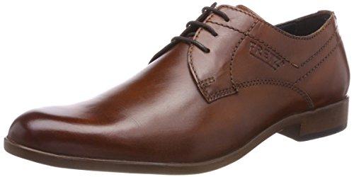 FRETZ men Oskar, Zapatos de Cordones Derby Hombre, Braun Cognac 37, 44 EU
