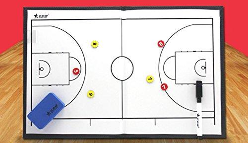 Il pannello grafico sandbox delle tattiche di pallacanestro di allenatori cartella magnetica Training Board