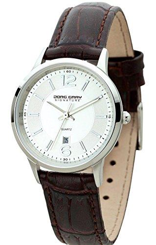 Top Shop Jorg Gray Signature Collection - Reloj de cuarzo unisex con esfera plateada analógica