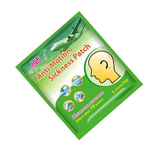 Guangcailun 2pcs / Bag Anti Reisekrankheit Patch-Prevent Vomitng Reisekrankheit Patch-Kopfschmerzen Acting schnell Hinter-Ohr-Schwindel-Patch