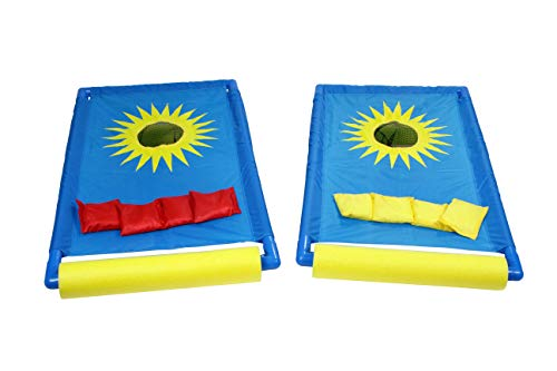 Water Sports Itza Floaty Bags Toss Floating Cornhole Game for Pool and Yard, Fun Waterproof Cornhole Game, Model Number: 81107-3