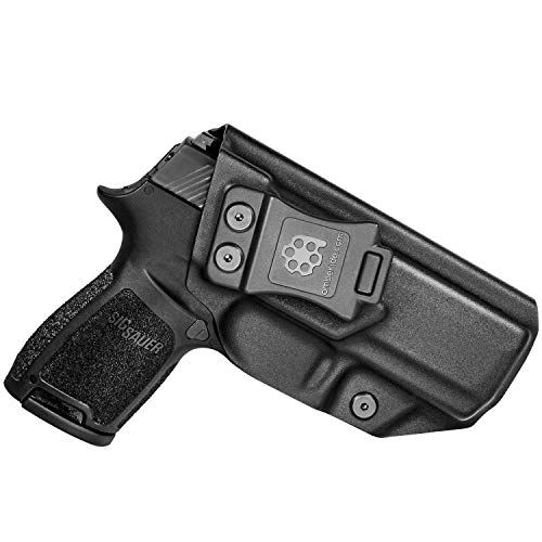 Amberide IWB KYDEX Holster Fit: Sig Sauer P320 Carry/Compact | Inside Waistband | Adjustable Cant | US KYDEX Made (Black, Right Hand Draw (IWB))