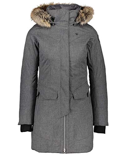 Obermeyer Womens Sojourner Down Jacket, Charcoal, 2
