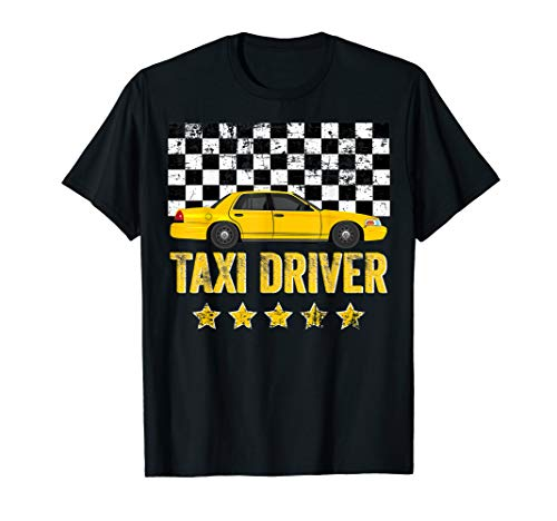 Taxi Cab Driver Vintage Checker Gift Tee for Dads & Kids T-Shirt