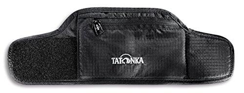 Tatonka Skin Wrist Wallet - Geldbörse fürs Handgelenk mit weicher, hautfreundlicher Rückseite, Klettverschluss und Reißverschlussfach - Damen und Herren - 26 x 8 cm - schwarz
