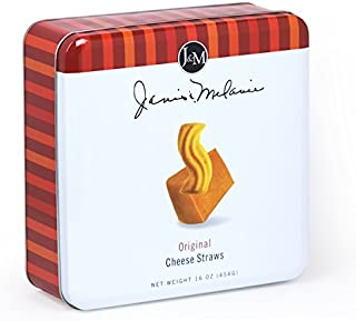 J&M Foods Original Cheese Straws, 16 Ounce Tin