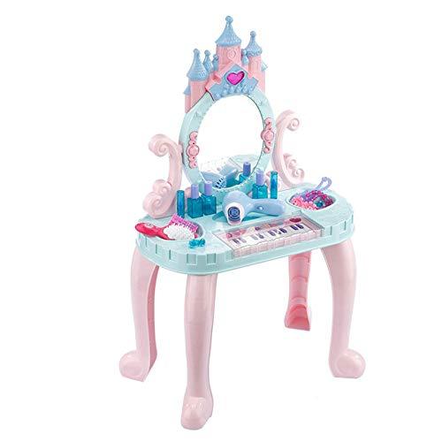 LYY Spaß Interaktiv Kinder Mädchen Dressing Tisch Spielzeug Kleine Prinzessin Dressing Tisch Mädchen Spielhaus 8 Wochen 2-3 Jahre alt Geburtstagsgeschenk Die Beste Wahl für Kinder