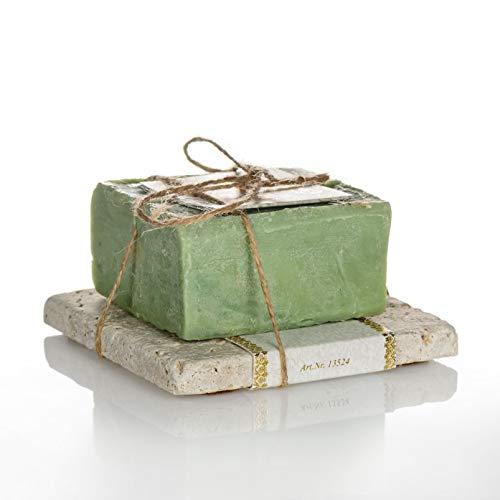 ottoman Hausart Olivenseife grün 200g mit Travertin - Set