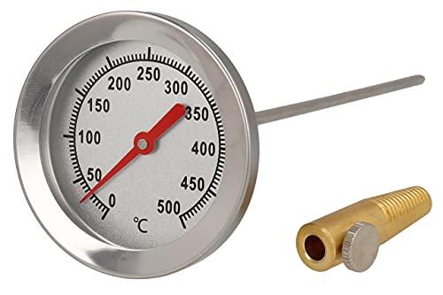 Lantelme 500 grado horno leña bimetálico y horno horno barbacoa termómetro analógico. diámetro de 62 mm y 30 cm de largo