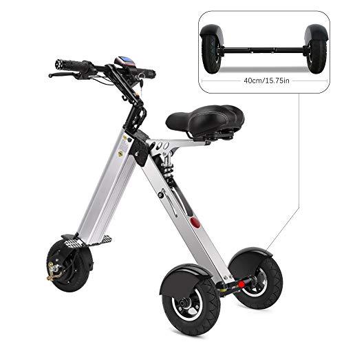 TopMate Bicicletas eléctricas Mini Scooter moda inteligente electrónica del vehículo eléctrico Movilidad triciclo plegable portátil de bicicleta eléctrica (gris)