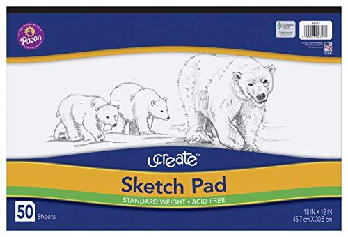 UCreate Sketch Pad, Standard Weight, 18