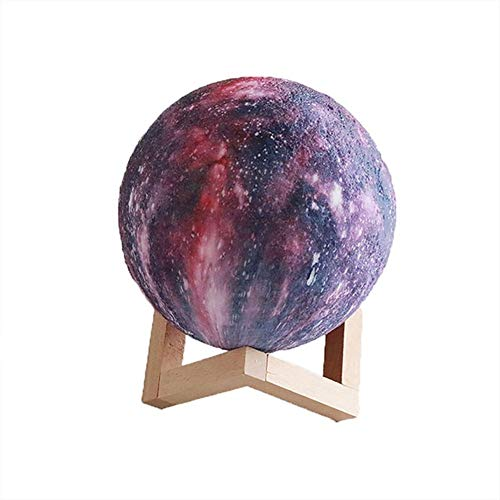 Syczdtd Moon Lamp Kids Night Light Galaxy Lamp 16 Colors LED 3D Star Moon Light With Wood Stand, Remote & Touch Control USB Rechargeable Gift for Baby Girls Boys Birthday bedside lamps for bedrooms