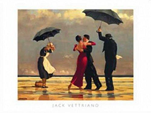 1art1 Jack Vettriano - Der Singende Butler Poster Kunstdruck 80 x 60 cm