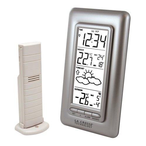 La Crosse Technology WS9132 station météo avec températures Intérieur/Extérieur - Argent