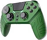 TUTUO Inalambrico Mando para PS4, Bluetooth Controlador Inalambrico Joystick Gamepad con Botones Programables Gyro de 6 Ejes y Conector de Audio Mandos Compatible con PS4