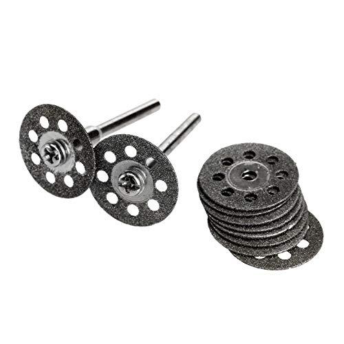 10Pcs 20mm Disco de muela abrasiva de diamante Mini sierra circular para taladro Herramienta giratoria Accesorios Dremel Disco de corte Dremel para metal